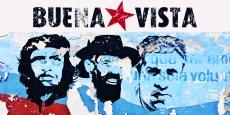Mural with Revolutionaries, Che Guevara, Camilo Cienfuegos & Jose Marti
